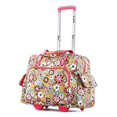 Olympia Deluxe Fashion Rolling Overnighter, Tulip