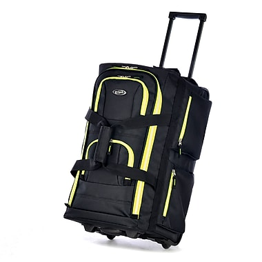 Olympia Polyester Luggage Sports Plus 8 Pocket Rolling Duffel Bag 22
