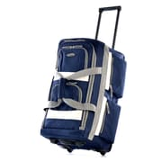"Olympia 8 pocket Carry On Rolling Upright Duffel Bag 22"", Navy"
