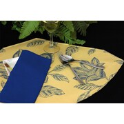 Pacific Table Linens Bouquet Reversible Wedge Placemat (Set of 2); Summer / Midnight