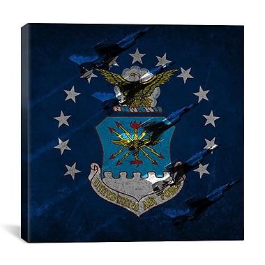 iCanvas Air-Force Flag, Thunderbirds Graphic Art on Canvas; 37'' H x 37'' W x 1.5'' D