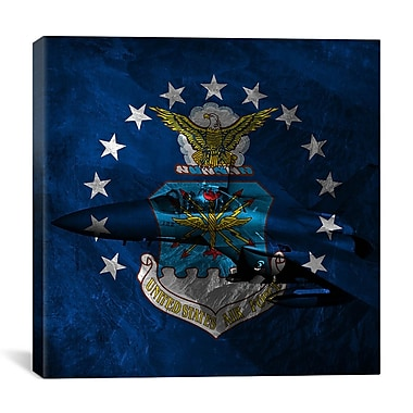 iCanvas Air-Force Flag, F-15 Graphic Art on Canvas; 37'' H x 37'' W x 0.75'' D