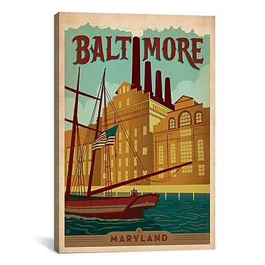 iCanvas Anderson Design Group Baltimore, Maryland Vintage Advertisement on Canvas