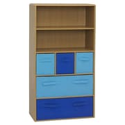 4D Concepts Storage 47.3'' Bookcase; Woodtone / Blue