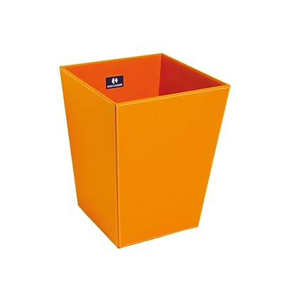 WS Bath Collections Complements 4 Gallon Waste Basket; Orange