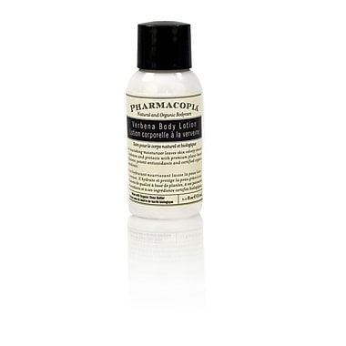 Hunter Amenities - Lotion pour le corps au parfum de verveine Pharmacopia, 1,1 oz, 200/paquet