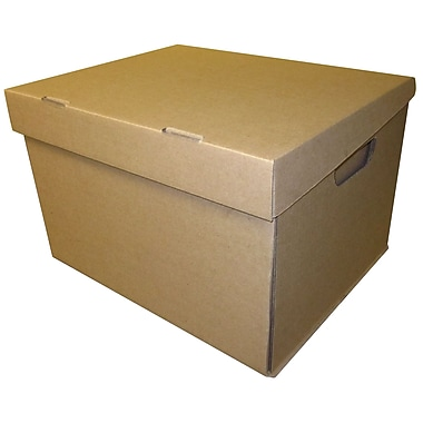 Norampac Plain Corrugated File Box, Kraft