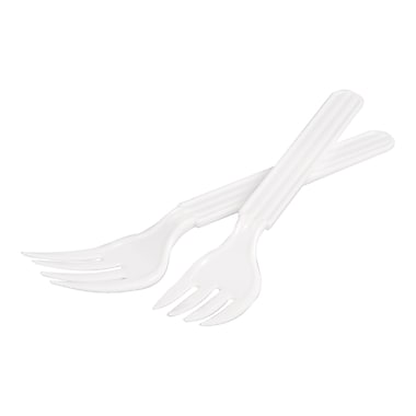 Polarplastic Midi Plastic Disposable Fork, White