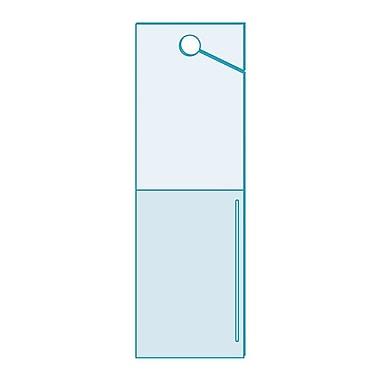 KostklipMD – Étiquette d'inventaire à panneau perforé avec pochette, 1,25 x 4 po, transparent, 250/paquet (26 AB-100991)
