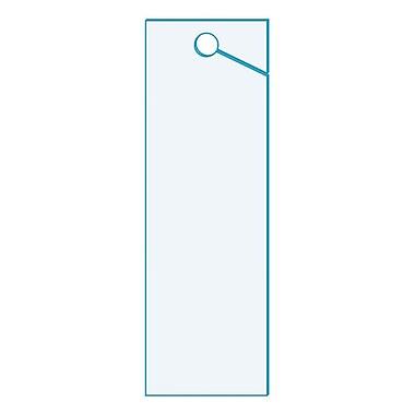 KostklipMD – Étiquette d'inventaire à panneau perforé, 1,25 x 4 po, transparent, 250/paquet (26AC-100635)