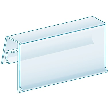 Kostklip® ClearVision® Fence, Clip-On, 25 Degree Angle Ticket Molding, Clear, 100/Pack