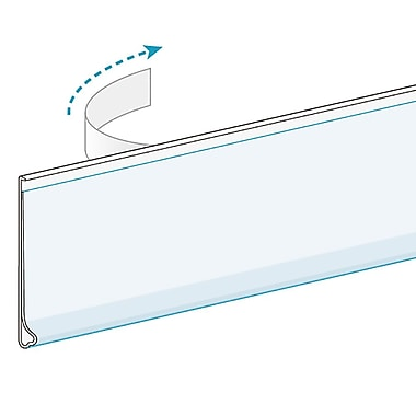 KostklipMC – Porte-étiquettes ClearVision à support plat, ruban transparent, 1,5 x 47,63 po, clair, 100/paq. (34WC-100028)