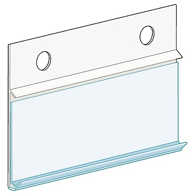 Kostklip® ClearVision® Fence, Hanging with Channel Ticket Moulding, 1.25