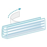 KostklipMD – Pinces et poignées d'affiche multifonctions, ruban mousse, transparent, paquet de 100