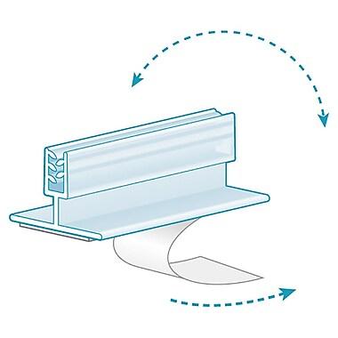KostklipMD – Pinces et supports affiches 0,25 po, charnières en T, ruban en mousse, 3 po, transparent, 100/paq. (100G-100767)