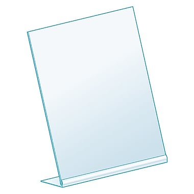 Kostklip® L-Style, Angled Sign Holder, Clear, 25/Pack