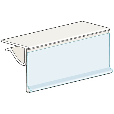 Kostklip® ClearVision® 0.25'' to 0.38'' Thick Shelf, Hinged Ticket Moulding, 1.25