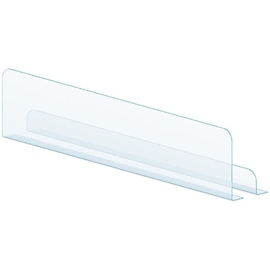 Kostklip® Shelf Divider, Clear, Clear Tape, 1
