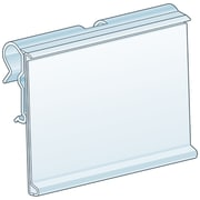 Kostklip® ClearVision® T-Wire or Small Plate, Swing-Up Label Holder, Flexible, Clear, 100/Pack