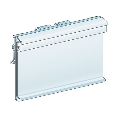 Kostklip® ClearGrip Small Plate or T-Wire, Swing Up Label Holders, Clear, 100/Pack