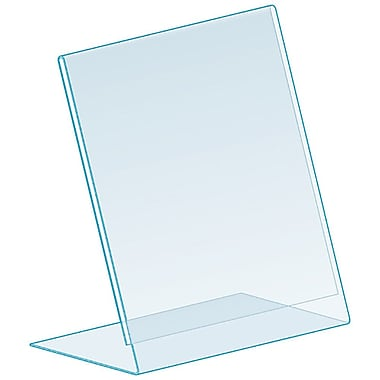 Kostklip® L-Style, Angled, One Piece Sign Holder, Clear, 25/Pack