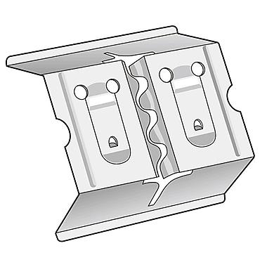 Kostklip® Three-Way Metal Sign Clip, 1.5
