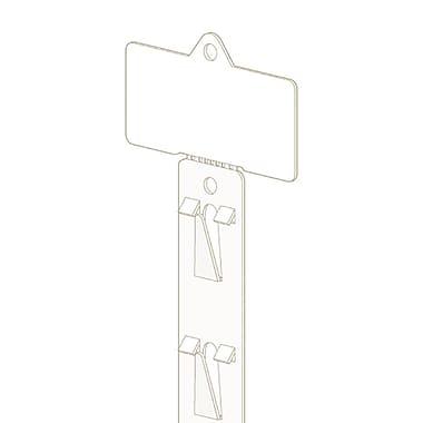 KostklipMD – Bande de marchandisage légère avec 12 affichettes de 3 po larg., 22 po, naturel, 25/paquet (MSTH-100911)