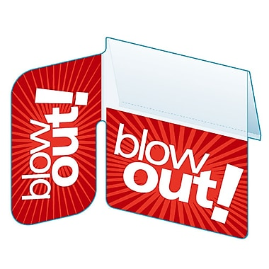 Collection signature KostklipMD « Blow Out! » ShelfTalker™ – Étiquette à angle droit, 1,25 x 2,5 po, 100/paquet (SSGL-103836)