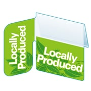 "Kostklip Signature Series ""Locally Produced"", Right Angle ShelfTalker, 1.25"" x 2.5"", 100/Pack (SSGP-103838)"