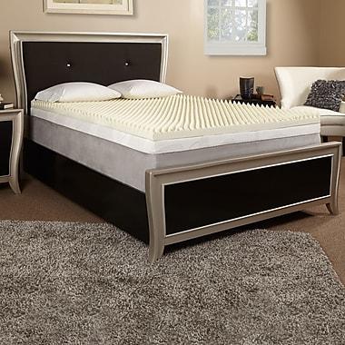 Luxury Solutions 3'' Memory Foam Mattress Topper; King