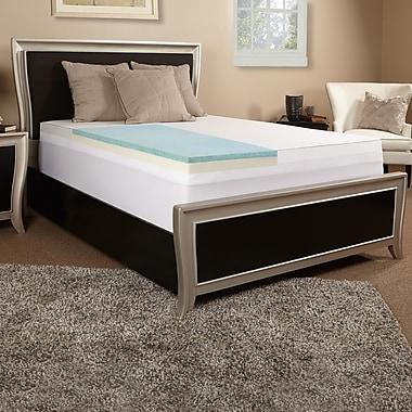 Luxury Solutions 3'' Gel Memory Foam Mattress Topper; Twin
