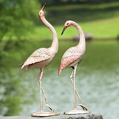 SPI Home Flamboyant Crane Garden Pair