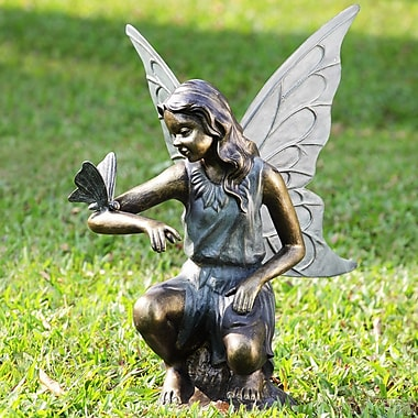 SPI Home Fairy and Butterfly Grace Garden Statue