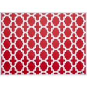 di Potter Reversible Placemat (Set of 24); Poppy Red