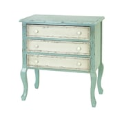 Woodland Imports Wooden 3 Drawer Chest