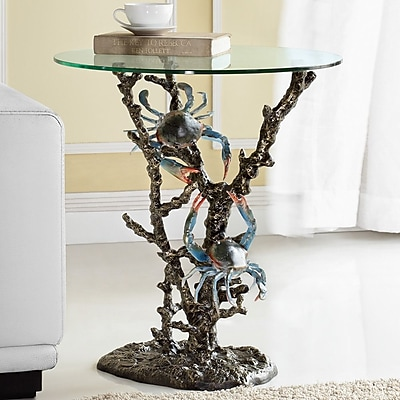 SPI Home Crabs and Coral End Table