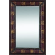 Woodland Imports Rectangular Leather Mirror