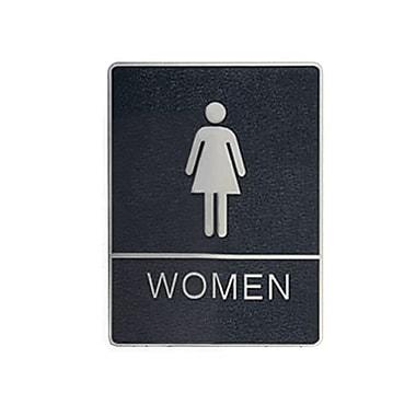 Women Washroom Signs with Braille, 6