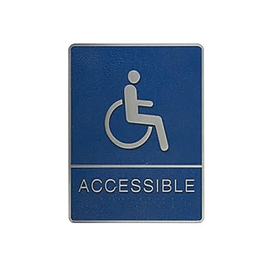 Wheelchair Accessible Sign with Braille, 6