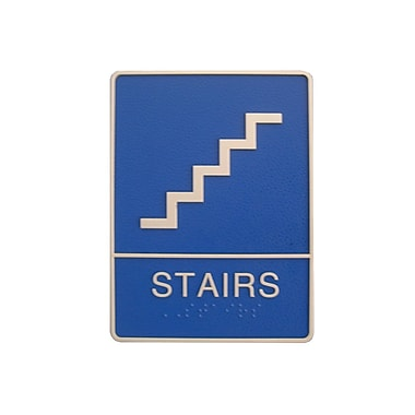 Stairs Sign with Braille, 6