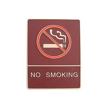 No Smoking Sign with Braille, 6