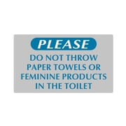 "Sintra ""PLEASE DO NOT"" Washroom Sign, 8-1/2"" x 5"""