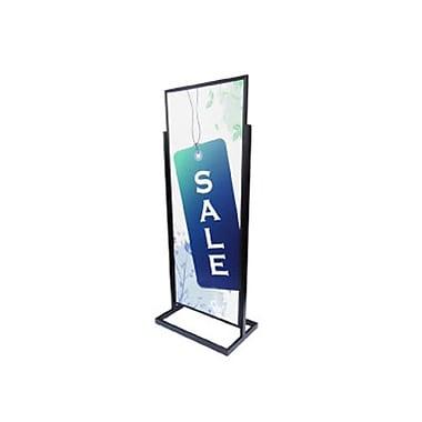 Straight Exhibit – Porte-affiche de plancher, 22 x 56 1/2 po