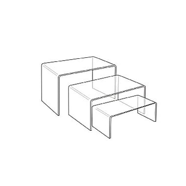 Acrylic Rectangular Riser, 2 Sets of 3 Pieces