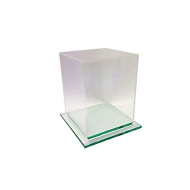 Acrylic Cube Display with Glass Base
