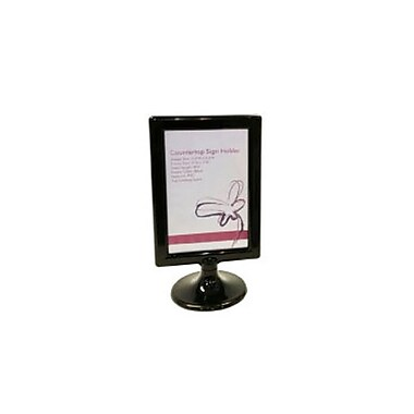 Black PVC Counter Sign Holder, 5