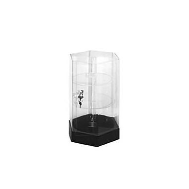 Hexagonal Acrylic Counter Top Display Rotating Showcase, 12