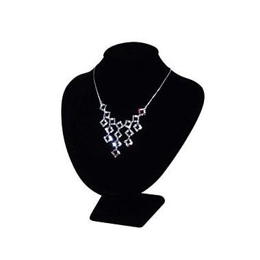 Support pour colliers en forme de buste, noir