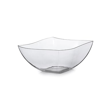 Tiny Temptations Plastic Wavetrends Clear China Like Square 8 Oz.