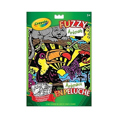 Crayola® Fuzzy Animals Colouring Pages, 12/Pack